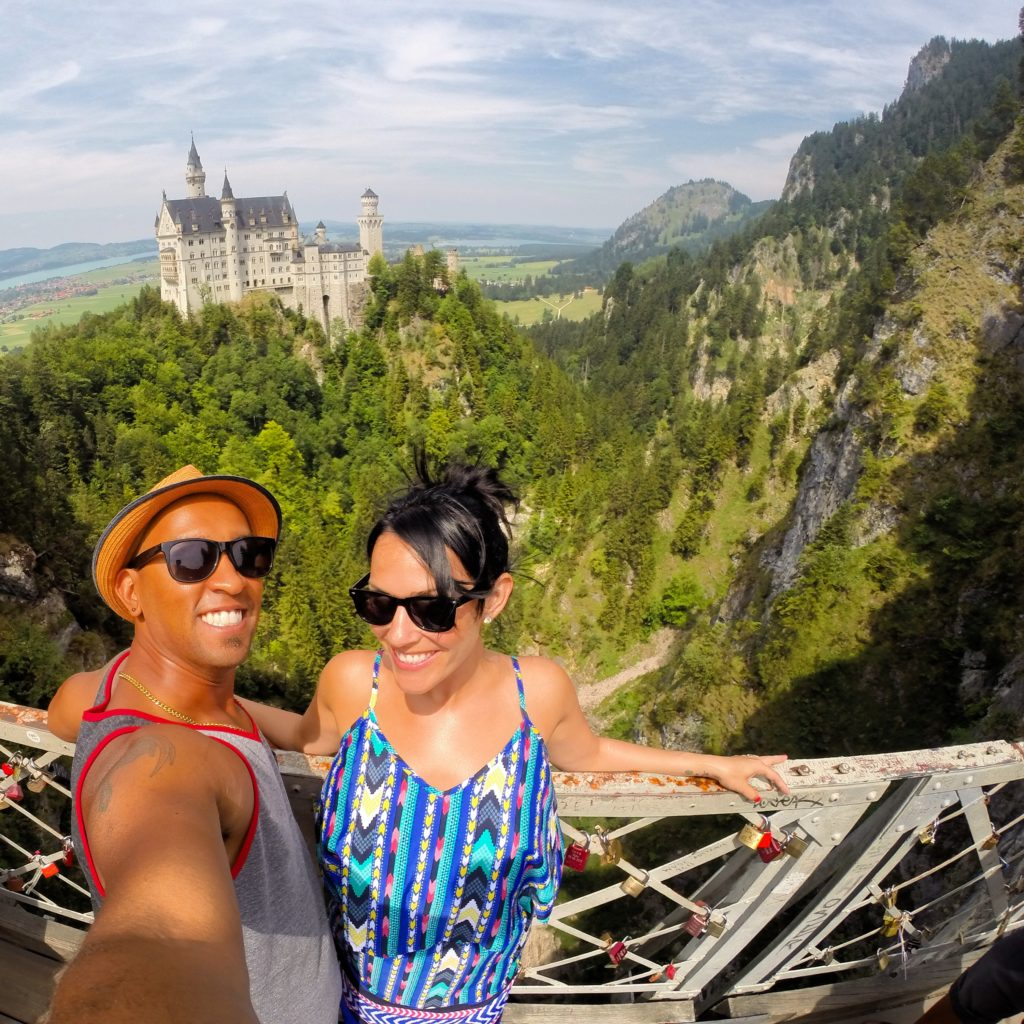 DT and Emily at Neuschwanstein Castle, living their best lives in Germany