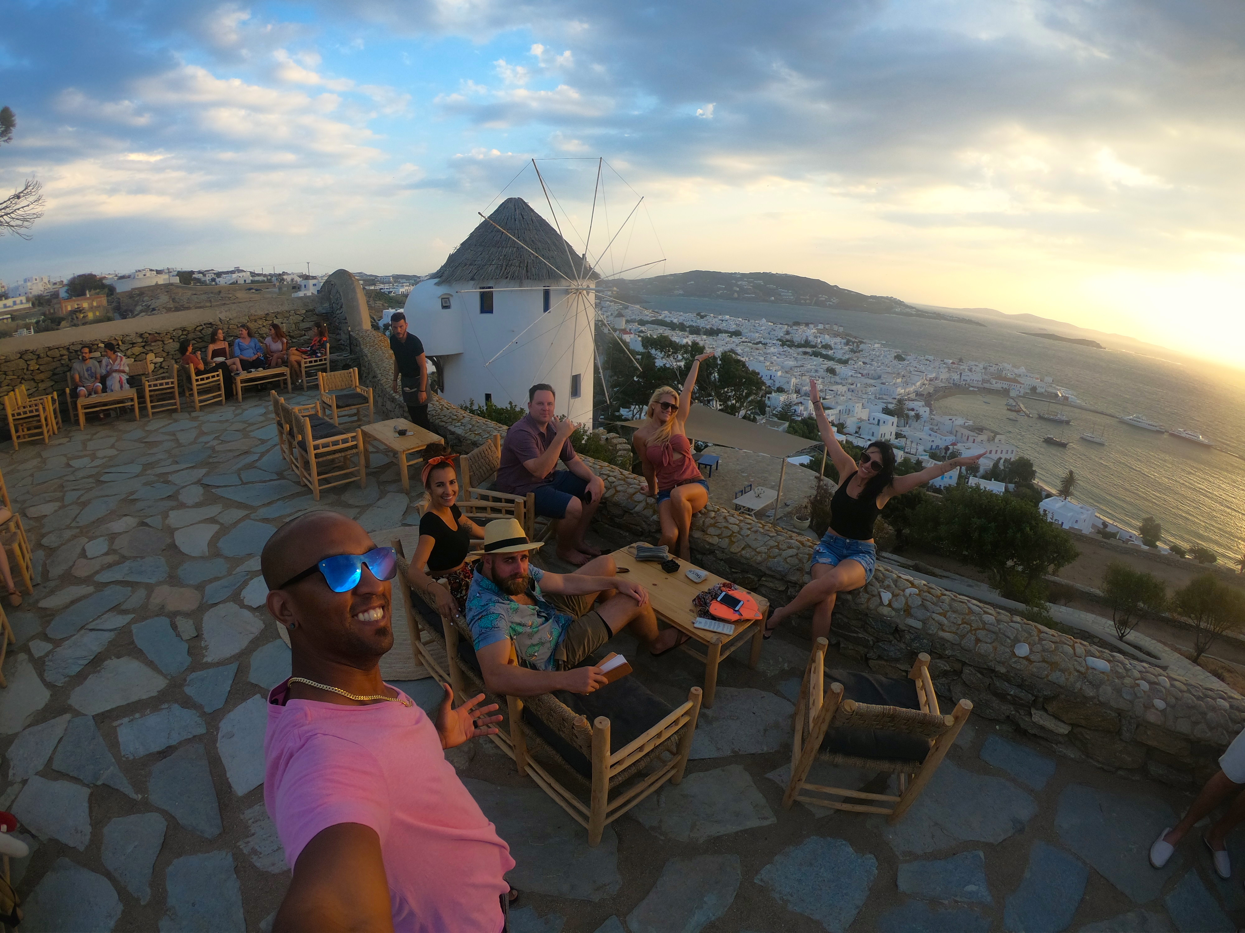 Almost anywhere you eat in Mykonos will have a view of the ocean