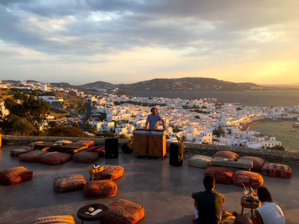 180 Degrees Sunset Bar has one of the best views in Mykonos