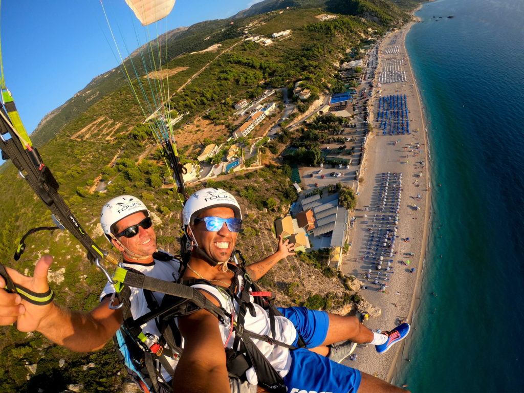 Paragliding over Lefkada has to be on your to do list