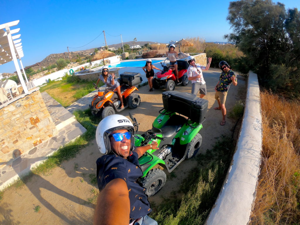 Rent a four wheeler (quad) or scooter to get around Naxos - it's the cheapest and easiest way to explore