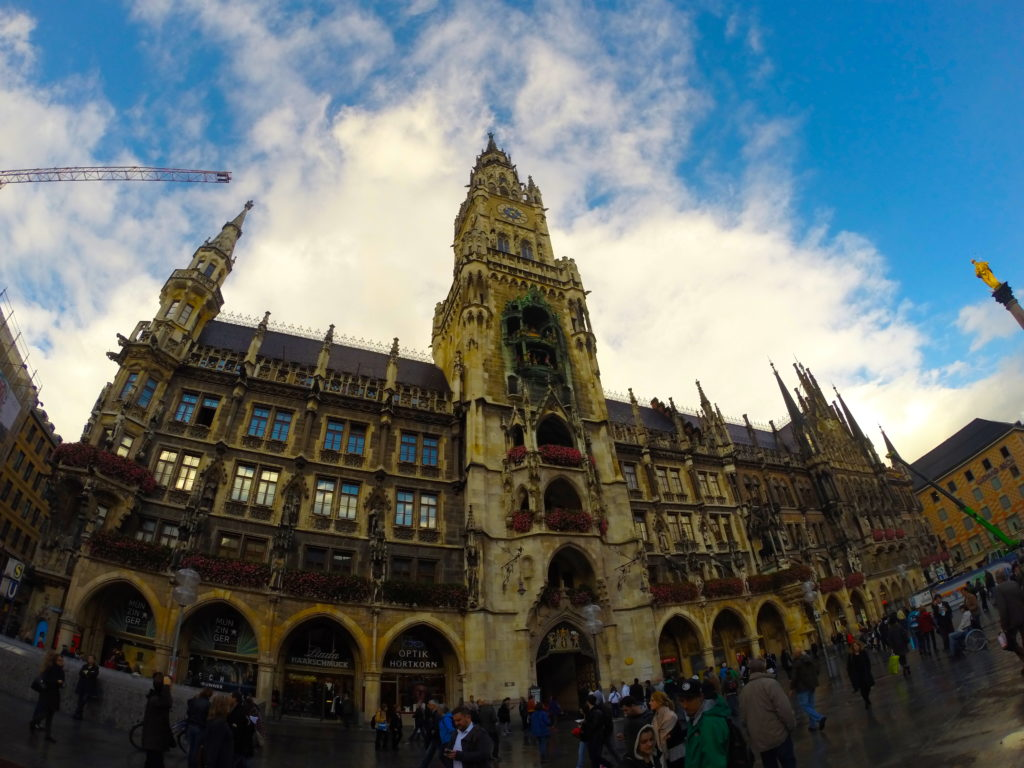 You can see the Glockenspiel show at the Rathaus in Marienplatz