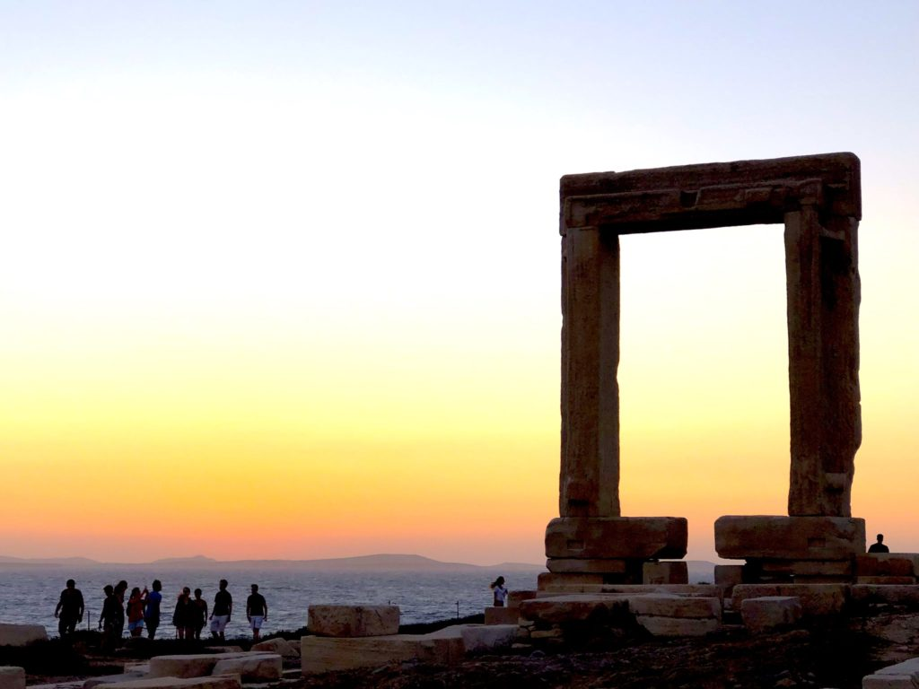 Apollo temple in Naxos was never finished - just this doorway