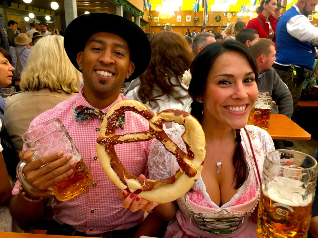 You have to go to a fest in Munich for big beers and pretzels!