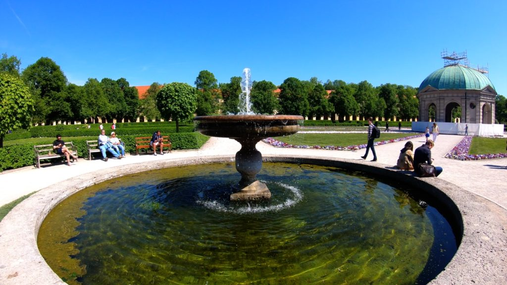 hofgarten in Munich, Germany is perfect for a beautiful stroll
