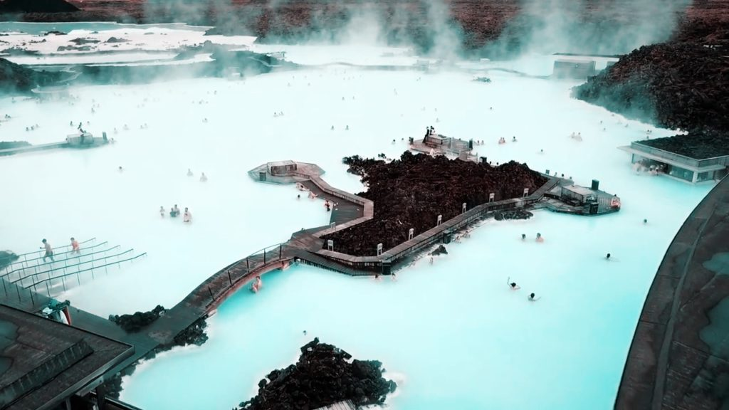Visit the Blue Lagoon to relax in Iceland