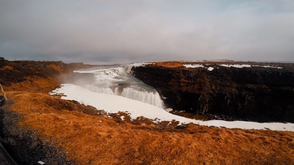 Gullfoss is the widest waterfall on this list, spanning 229 meters!