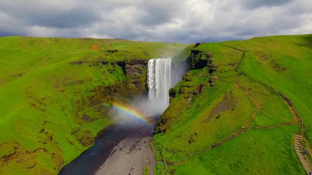 Skogafoss is one of the most popular waterfalls in Iceland