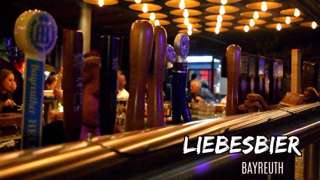 Liebesbier has a great selection of beer and food in Bayreuth, Germany