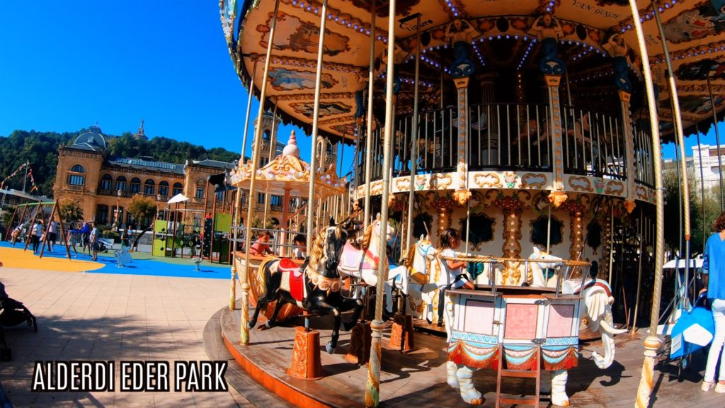 The carousel in Alderdi Eder Park is a must see in San Sebastian!