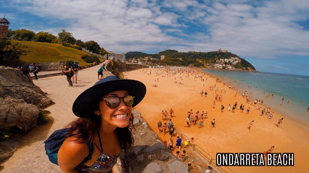 Ondaretta beach is smaller than Playa de La Concha, but it still shares the same bay
