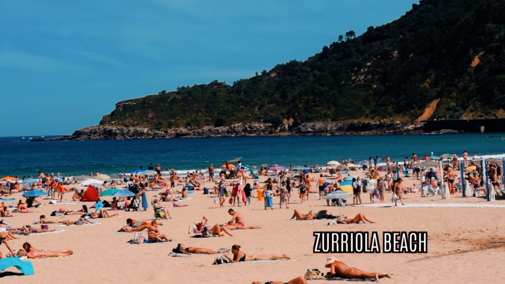Zurriola Beach is perfect for laying out and catching some rays