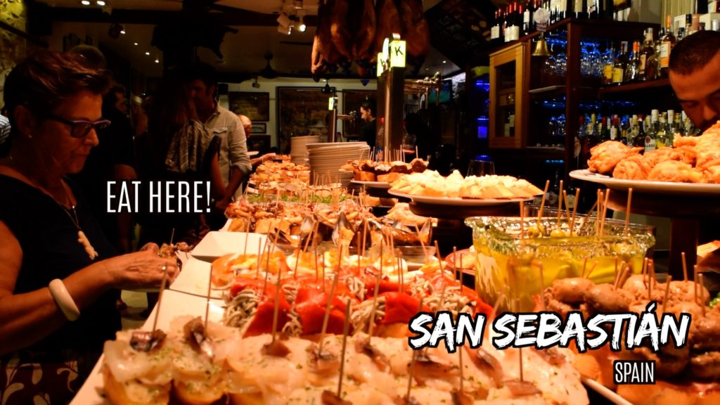 Enjoy pintxos while visiting San Sebastian, Spain!