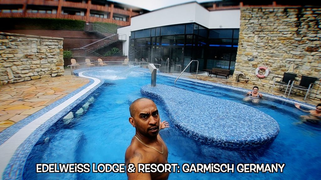 Enjoy both inside and outside pools and hot tubs at Edelweiss Lodge and Resort in Garmisch, Germany