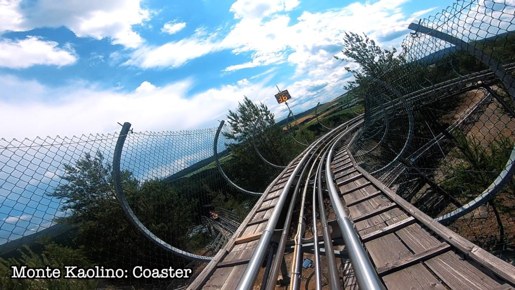 Ride up to 40 kilometers per hour on the Monte Coaster!