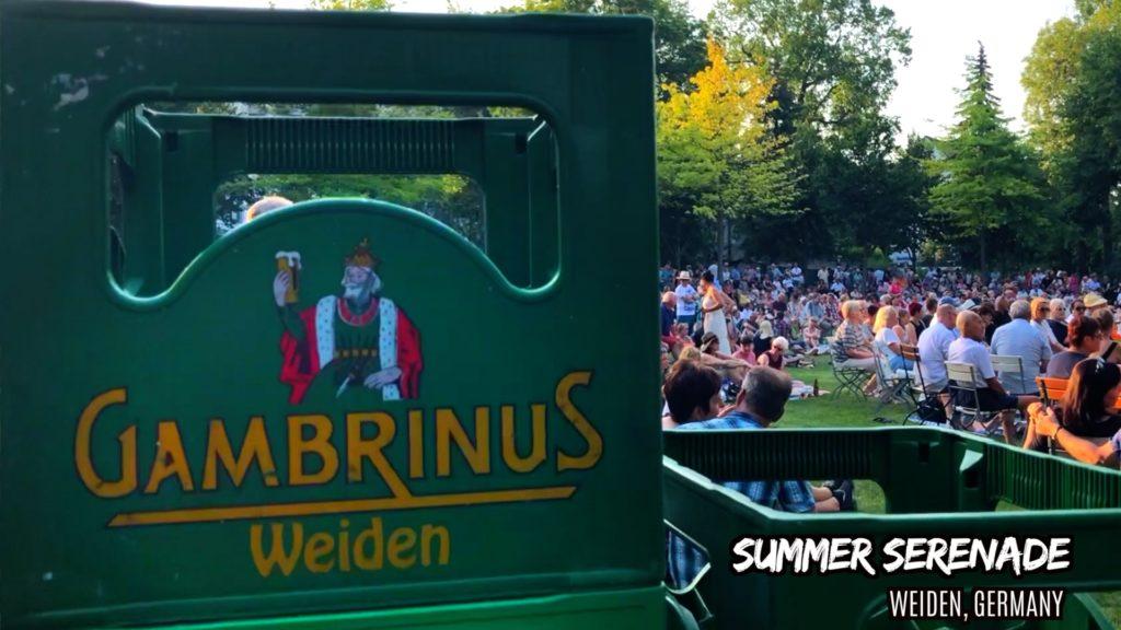 Gambrinus is a beer brewed in Weiden in der Oberpfalz