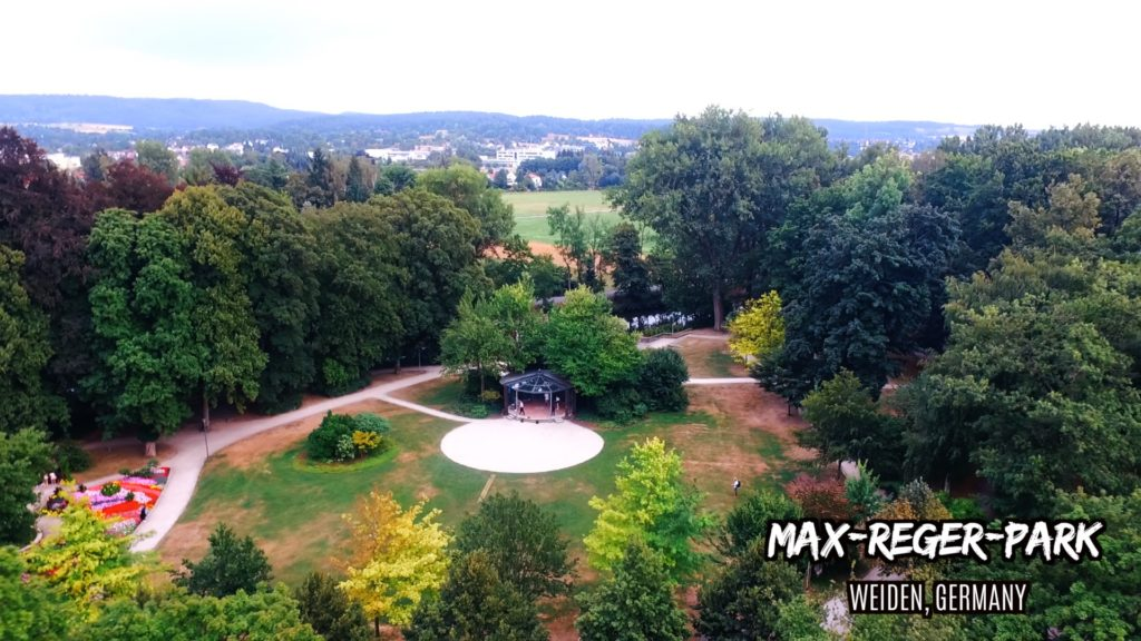 A bird's eye view of Max-Reger-Park