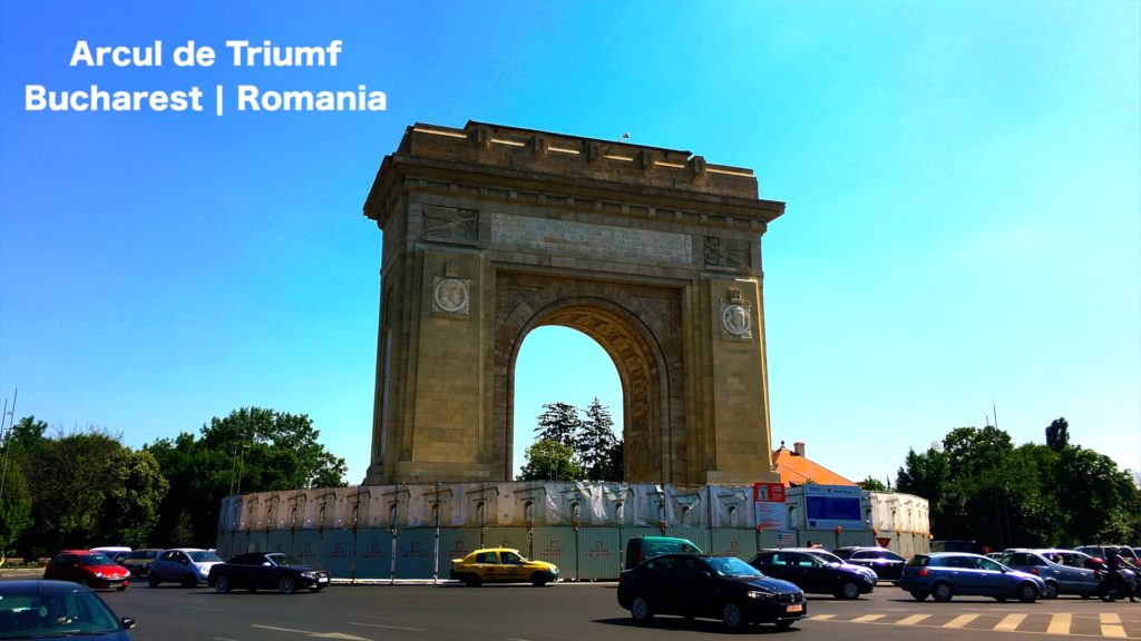 Not the Arc de Triomphe in Paris - this is the Arcul de Triumf in Bucharest!
