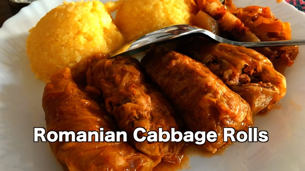 Sarmale are cabbage leaves with meat and rice rolled up inside and simmered in a tomato sauce