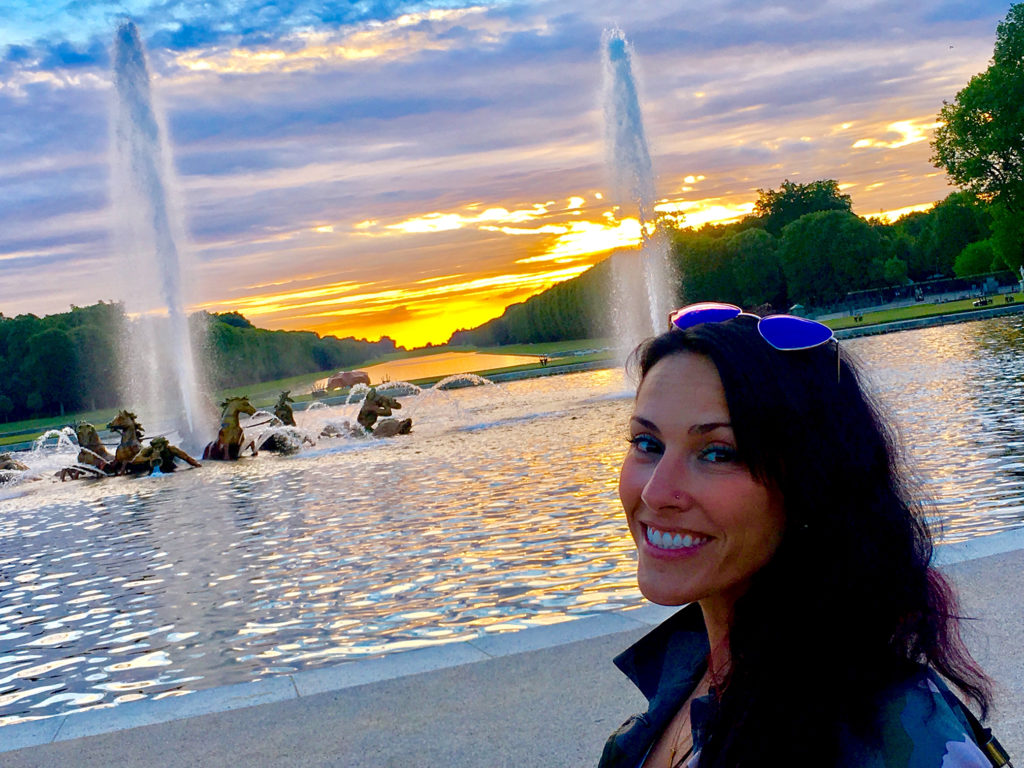 Versailles is so much more than a palace. Be sure to catch the sunset in the garden before the Fountains Night Show!
