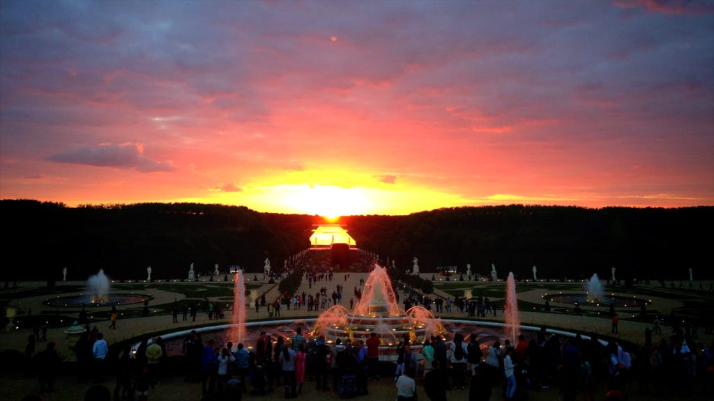 Be sure to catch the sunset at the Gardens of Versailles in the summer!