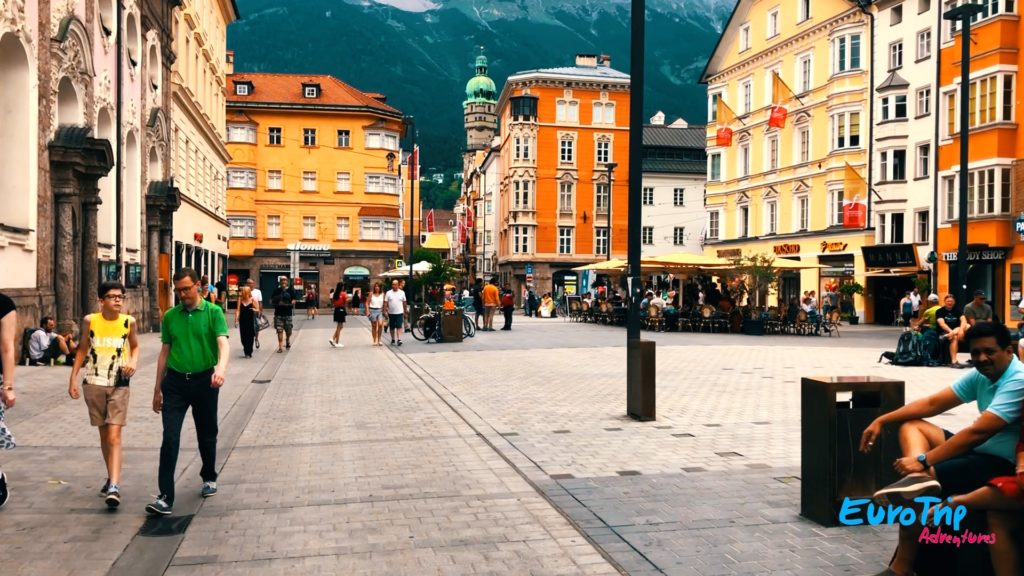 Old Town in Innsbruck, Austria on the 2 Countries, 1 Day trip with EuroTrip Adventures!