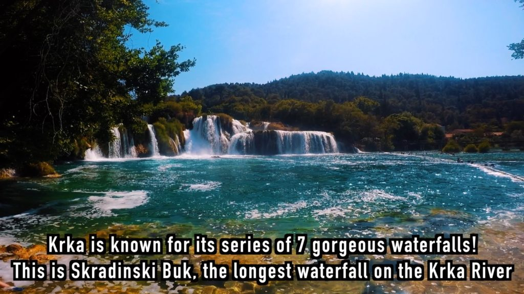 Skradinski Buk is the longest of the seven waterfalls in Krka National Park in Croatia