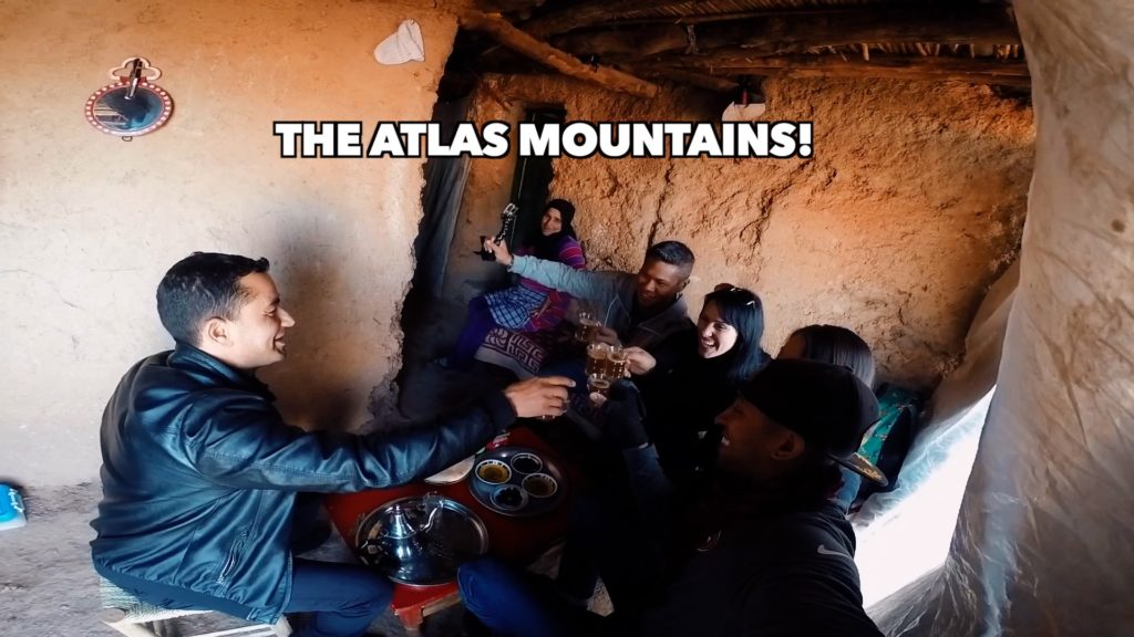 If you sign up for an Atlas Mountains tour, you will likely stop by a family's home for bread and mint tea