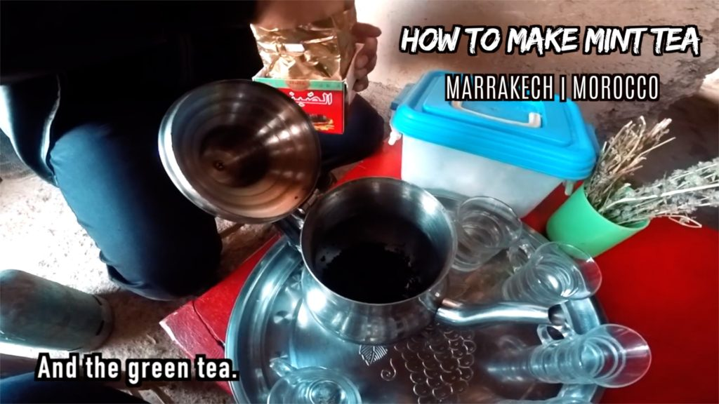 The tea leaves come from China, but the brewing and serving methods are Moroccan