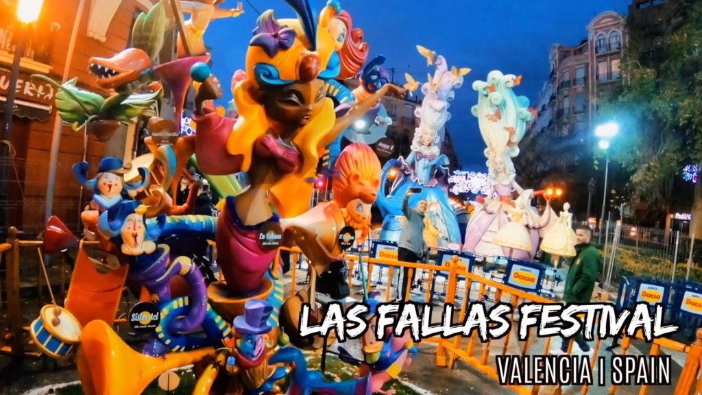 These amazing ninot displays are all over Valencia during the fire festival in March!