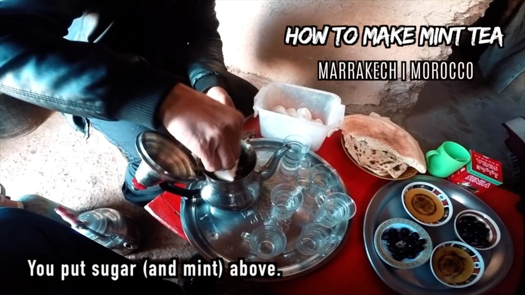 Be generous with the amount of mint and sugar you add to the pot!