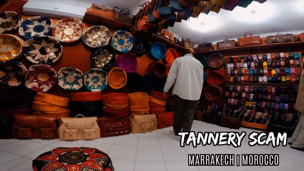 All kinds of leather goods from the Moroccan tanneries