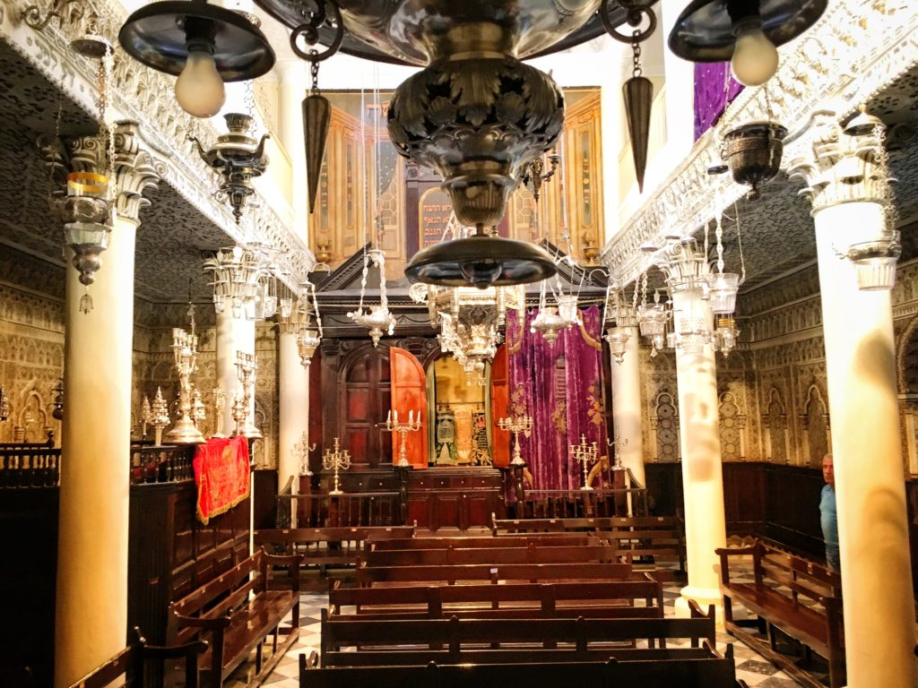 The Nahon Synagogue in Tangier is now a museum open to the public
