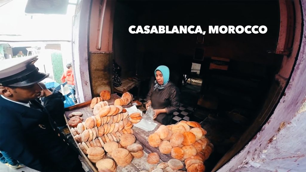 The boulangeries in Casablanca sell fresh bread every day - be sure to grab a loaf!