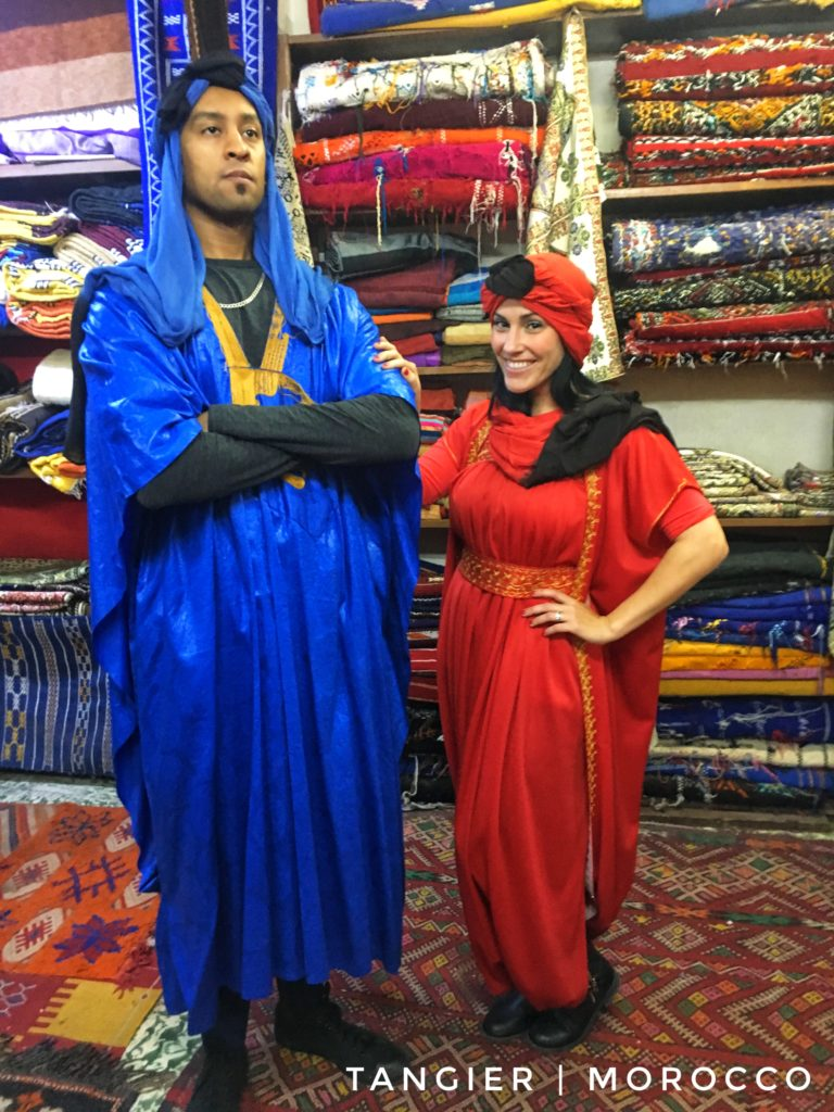 Pick up a new rug or wardrobe to remember your time in Tangier!