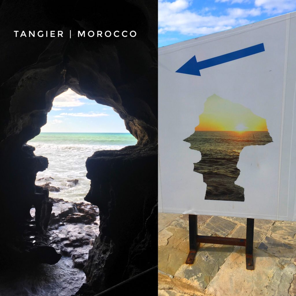 The cave of Hercules in Tangier is a beautiful site to see