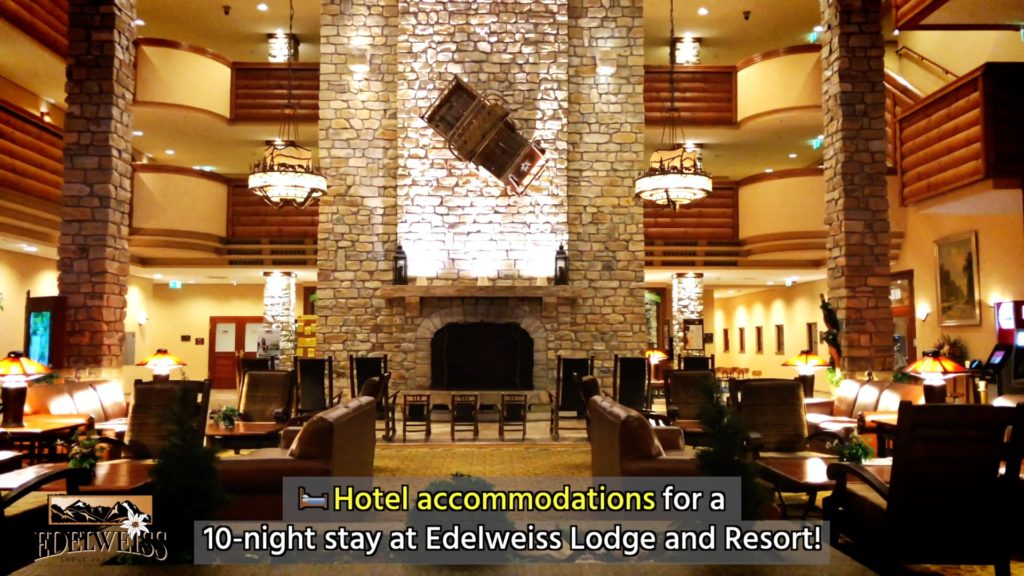 The lobby of the Edelweiss Lodge and Resort
