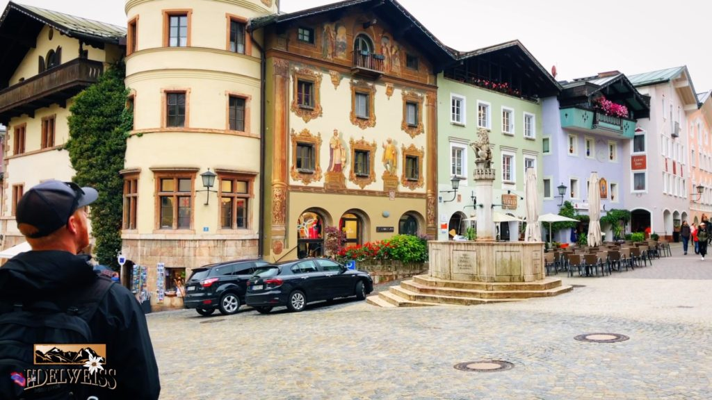 A charming European town in the alps