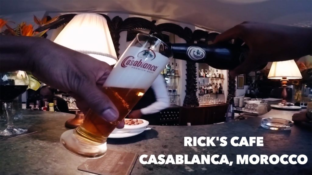 You have to see Rick's Cafe in Casablanca! Although the movie was never filmed in Morocco, this classy joint is worth a visit