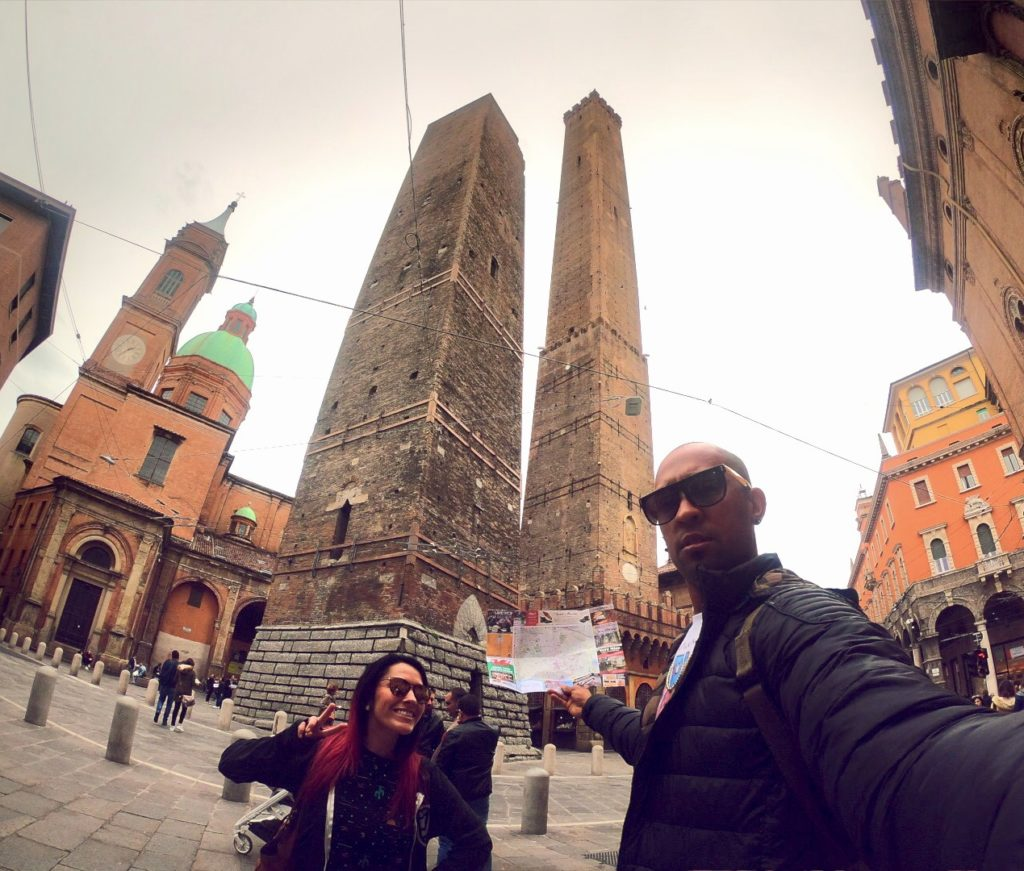 The Two Towers in Bologna are iconic structures of this Italian city