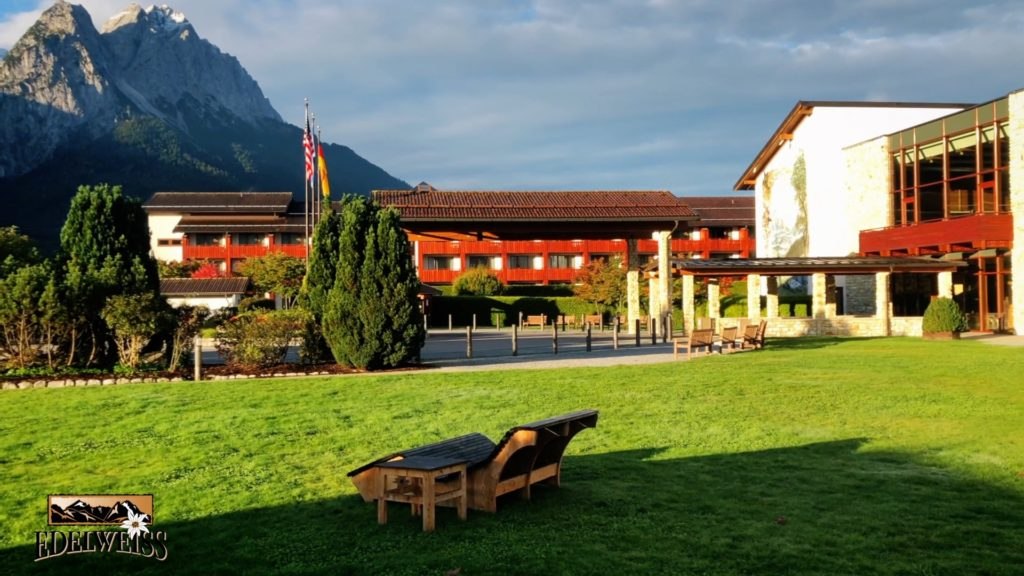 Edelweiss Lodge and Resort has a beautiful view of the Zugspitze