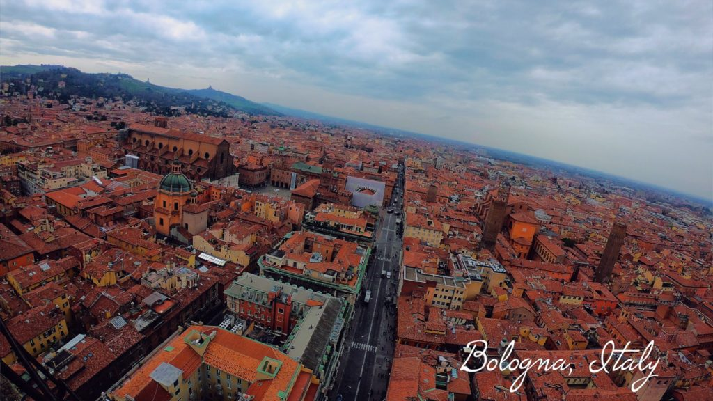 The view of the city from the Two Towers is unbeatable. Wear comfortable walking shoes when visiting Bologna!