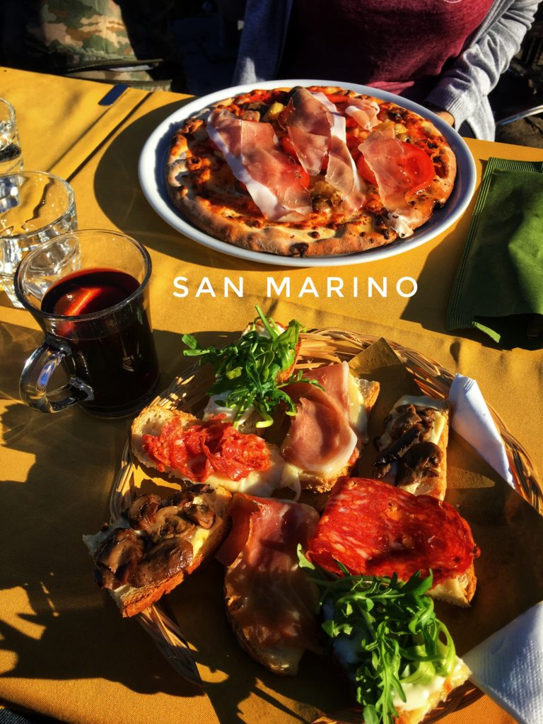 bread, meat, cheese, and some vegetables. What more could you want when visiting San Marino?