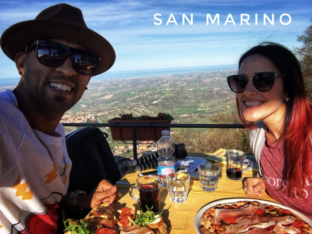 Enjoy a beautiful mountainside view of the country at Bar Piadineria la Capanna in San Marino!