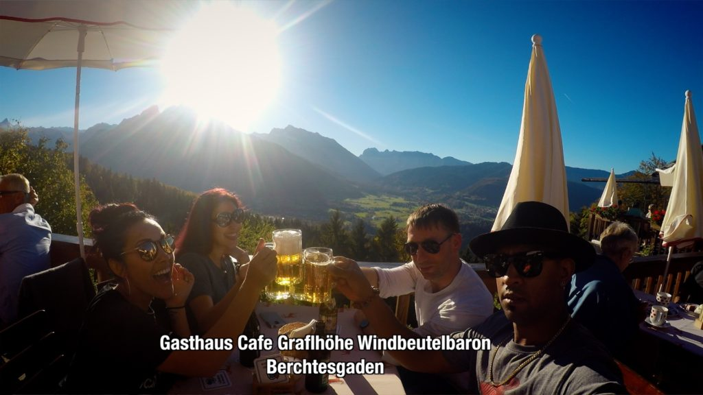 drink beer while overlooking the beautiful landscape at Gasthaus Cafe Graflhoehe Windbeutelbaron!