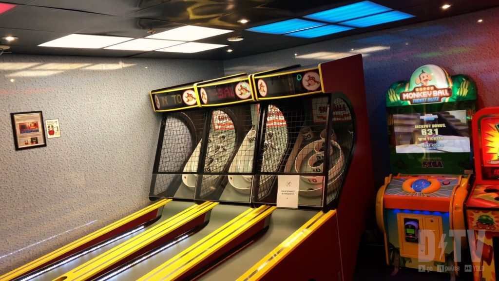 The Kids Zone on the cruise ship is a great place for kids to stay entertained while you enjoy a date night!