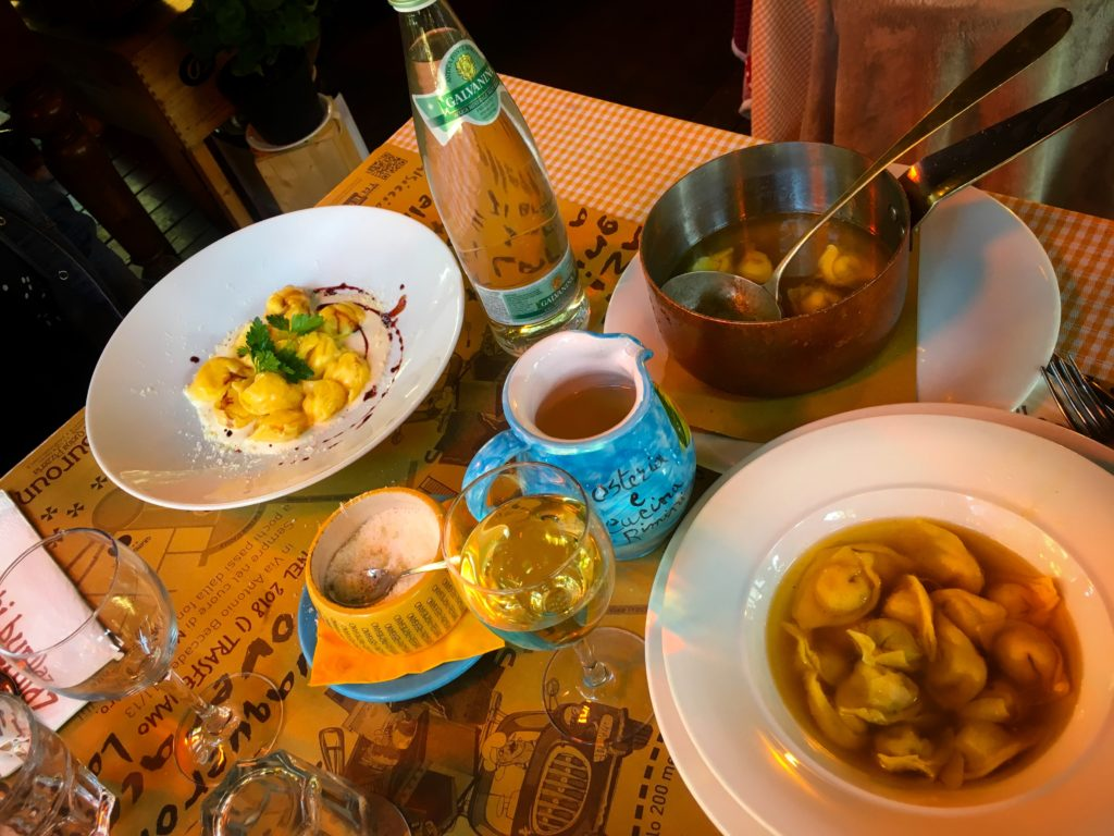 Tortellini soup is a regional staple in Bologna. Add this dish to your list of things to do in Bologna!