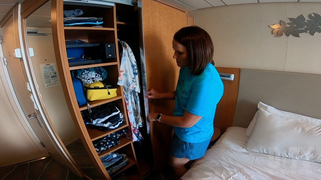 Cruise ship cabins are small. You won't spend much time in them anyway, but keeping your room organized will save you time and stress!