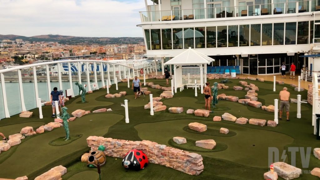 Mini golf is just one of many forms of entertainment on a cruise ship. Learn more about first time cruise tips at dtvdanieltelevision.com