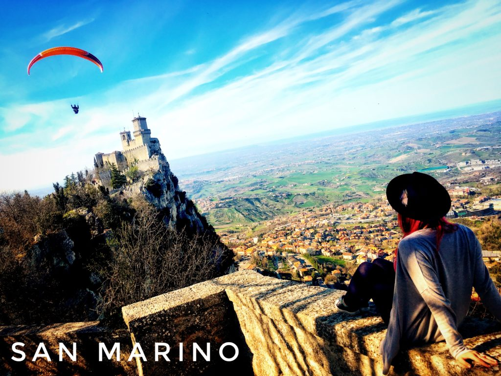Paragliding is a great way to enjoy San Marino...probably. We stayed on the ground, but we saw multiple paragliders in the City of San Marino!